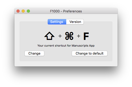 F1000Workspace preferences