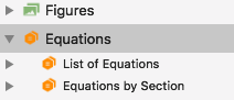 List of equations in the outline