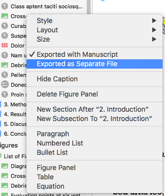Setting export options for a single figure