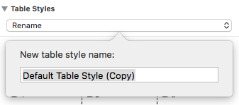 Renaming a Table Style